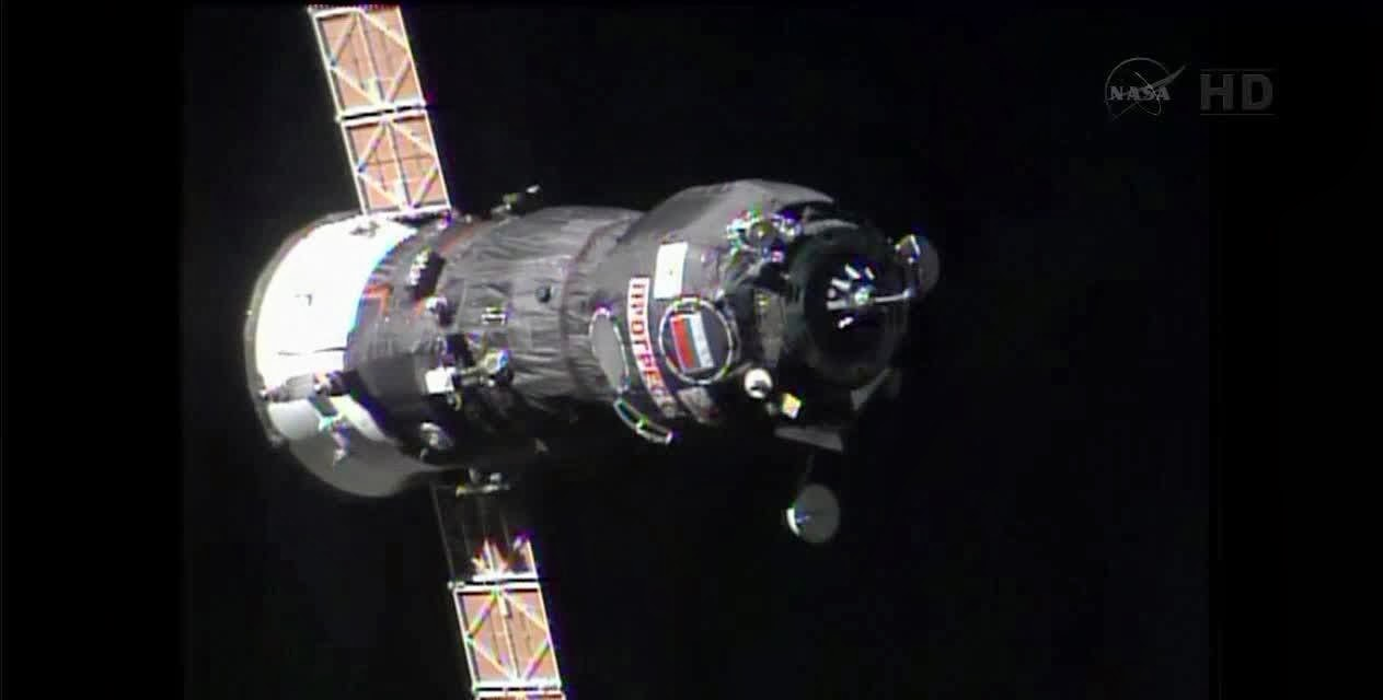 Russian Progress M-20M spacecraft. Credit: NASA TV