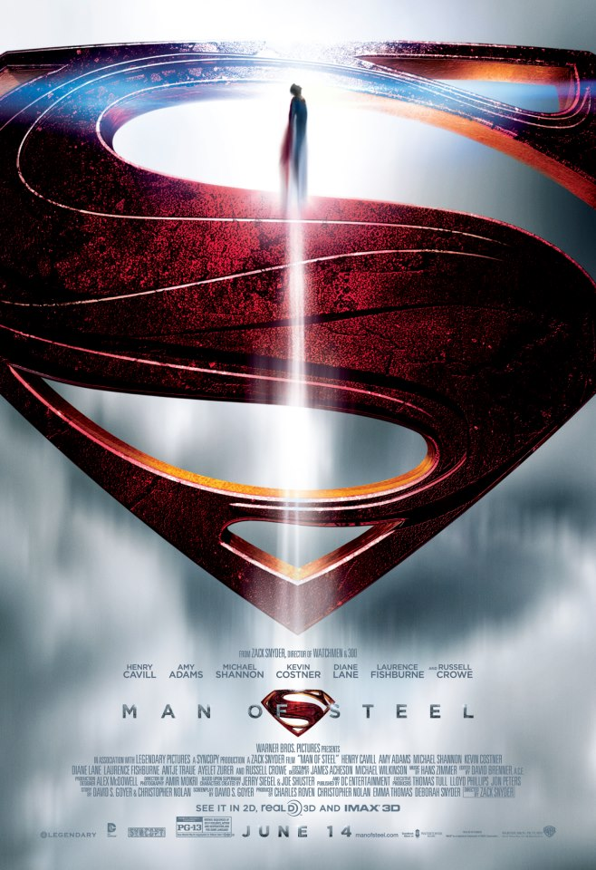 Zack Snyder's Man Of Steel Movie Poster