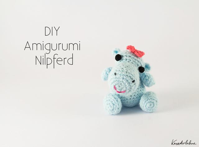 Amigurumi Anleitung Baby : Amigurumi Anleitung: Nilpferd Baby mit Schleife - DIY Blog ...