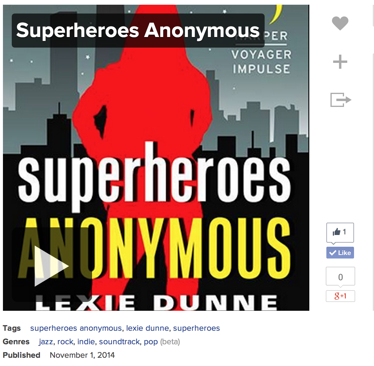 superheroes anonymous playlist