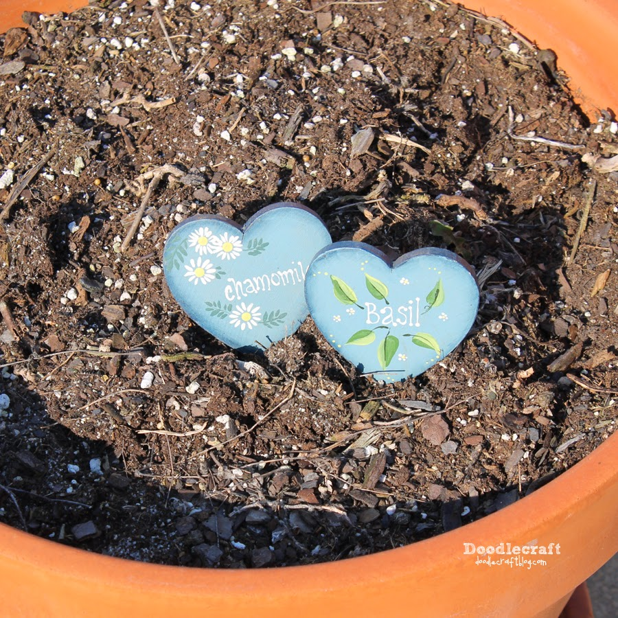 Doodlecraft Herb Garden Planter Stakes