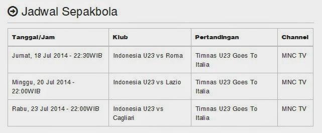 Jadwal Siaran Langsung Sepakbola di Televisi