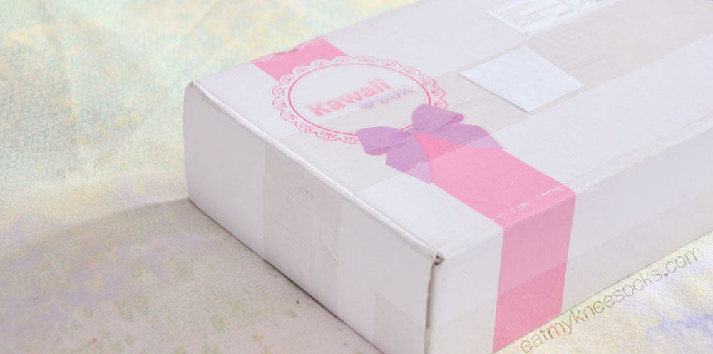 The Kawaii Box comes in a medium-sized box with a cute design and the Kawaii Box logo.