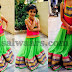 Baby in Light Green Ghagra