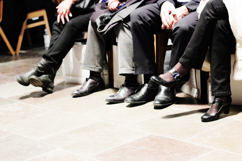 shoes in front row