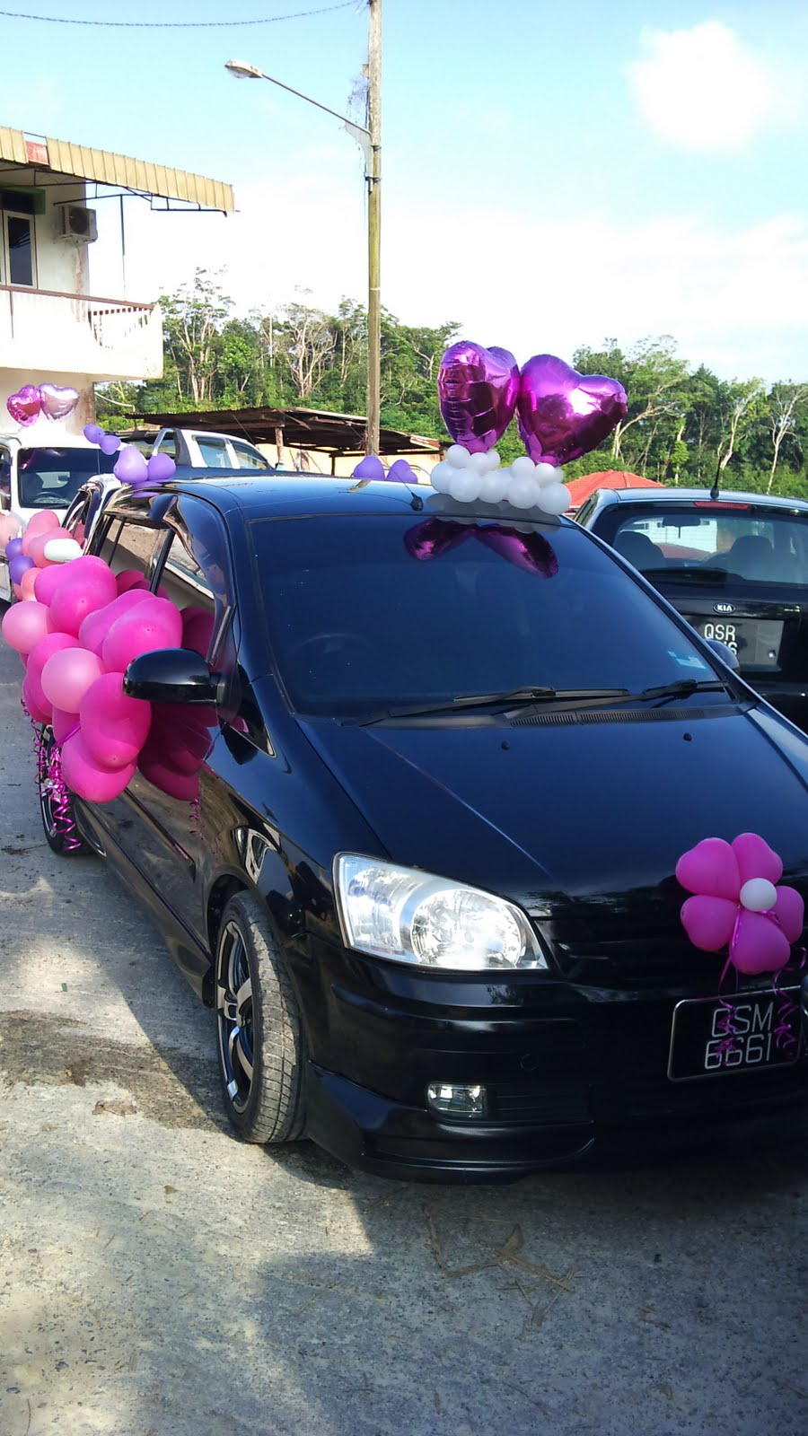 Balloon Decorations For Weddings Birthday Parties Sculptures In Kuching And Miri Sarawak Wedding Car Decoration Peter Su Big Day
