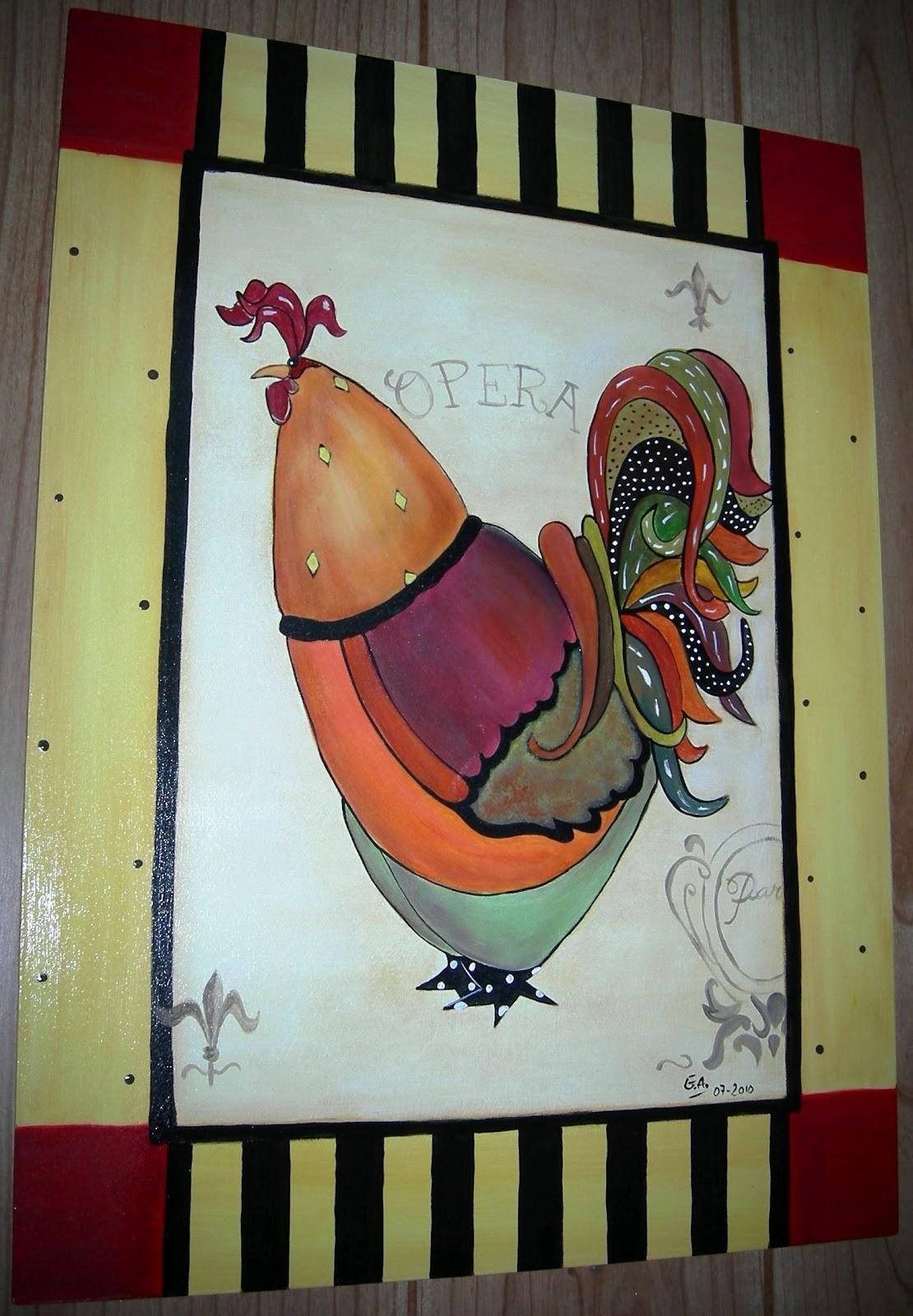 Cuadros para la cocina pintura decorativa con acrlicos - Pintura de cocina ...