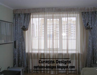 modern living room window treatments - window dressing