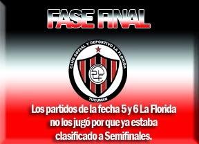 FASE FINAL FECHA 5 Y 6