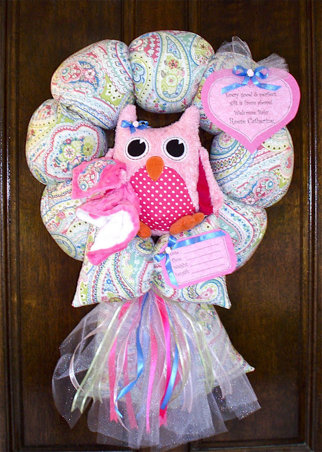 63. custom owl wreath to match bedding
