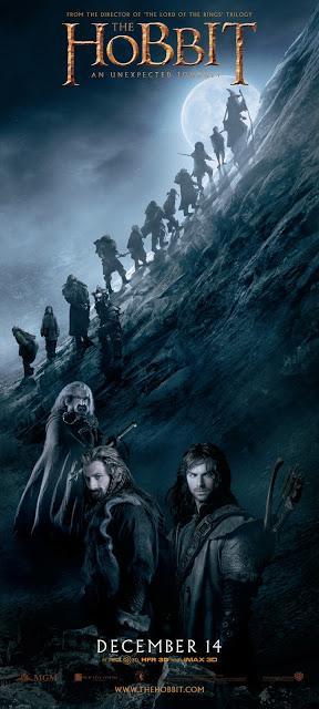 El Hobbit: Un viaje Inesperado - Banner subida a las montañas