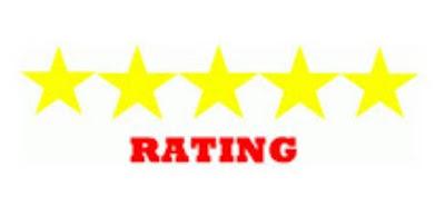 menampilkan foto dan rating bintang