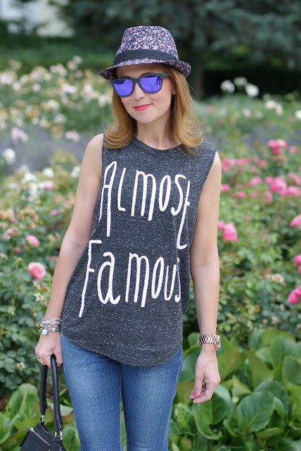 flower fedora hat, Almost famous vest, Oakley mirror sunglasses, Fashion and Cookies