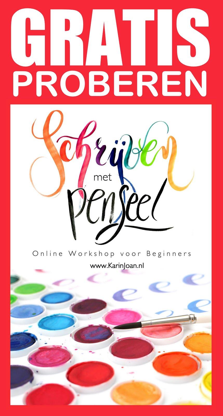 online workshop Schrijven met Penseel