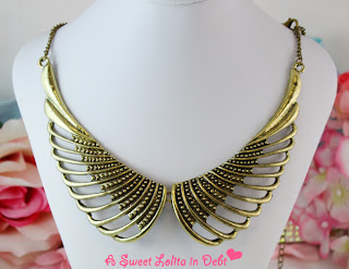 Wings necklace, wings jewelry