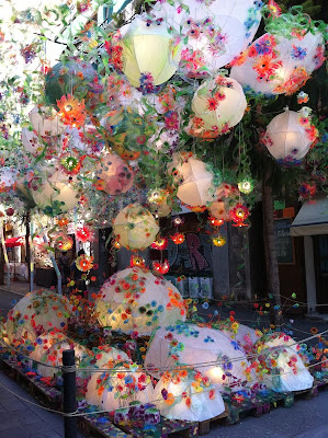 Light Balloons on Barcelona Sights
