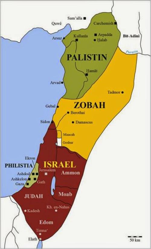 Peta aliansi raja Daud