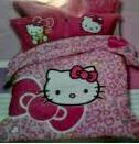 Sprei Anak Motif Hello Kitty Pink