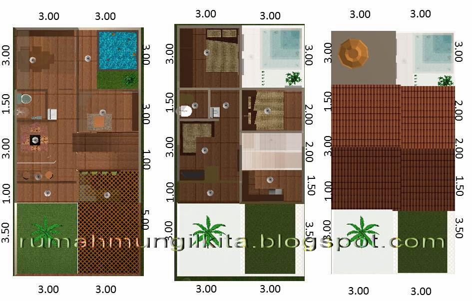 renovasi rumah tipe 30 tanah 72 siap banjit