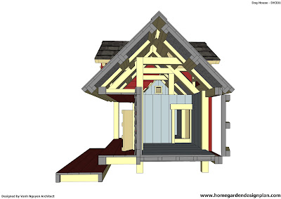 Chcken Coop Dh301 Insulated Dog House Plans Insulated Dog