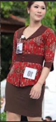 model baju endek kantoran