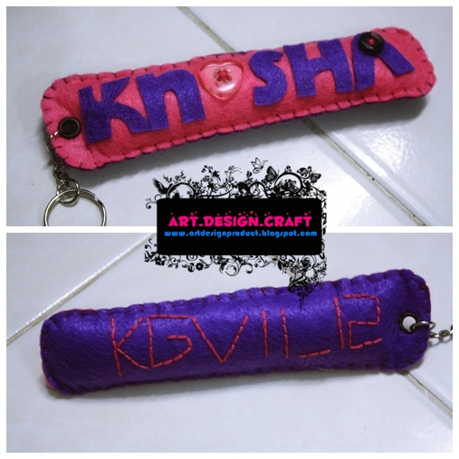 Pencil case + Name Keychain