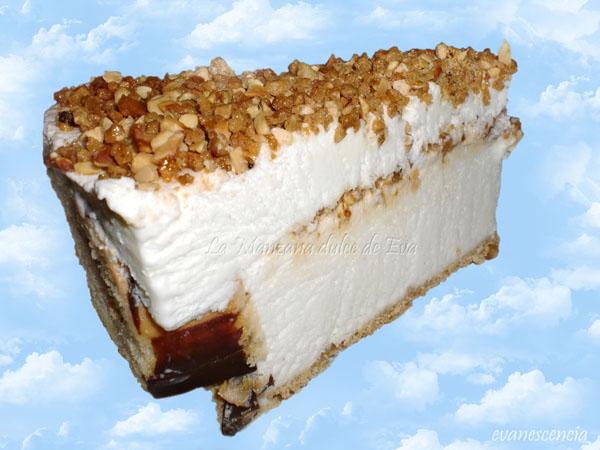 trozo tarta helada celestial