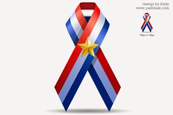 U.S.A Ribbon PSD