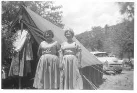 Old time camp tent