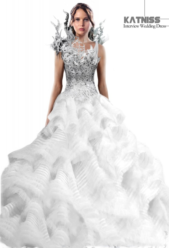 photos illustrations of katniss wedding dress peetas