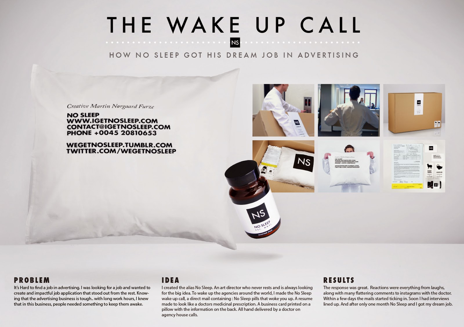 The Wake Up Call - How No Sleep Got This Art Director His Dream Job ...
