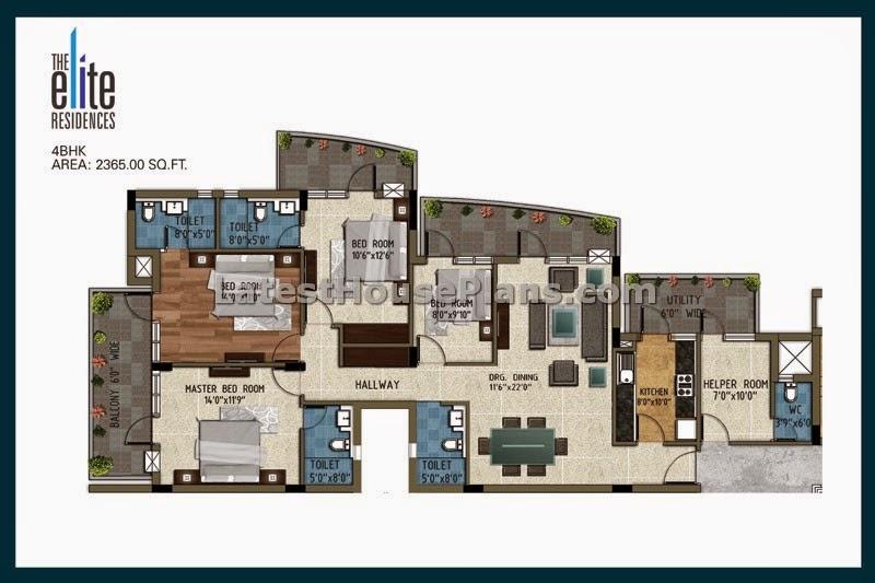 2350 sqft 4 bhk apartment floor plan in chennai latest for 4 bhk apartment design