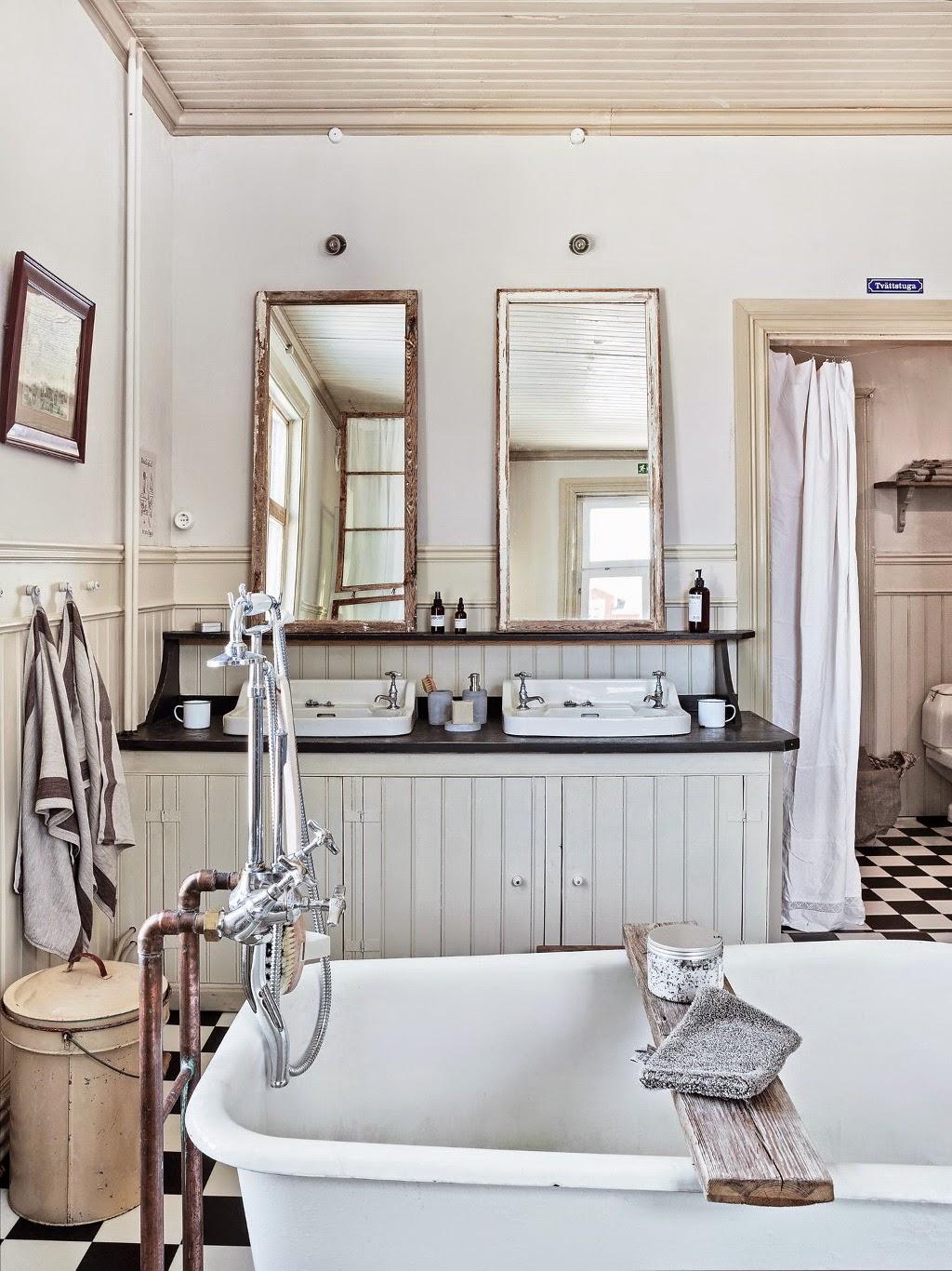 Baños Rusticos Vintage:Vintage] Una reforma de baño en estilo vintage rústico – Virlova