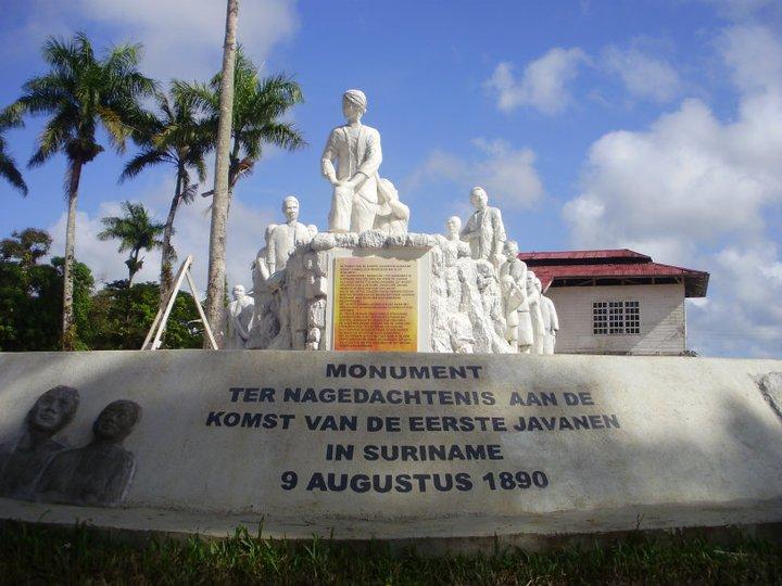 tekane wong Jawa ing Suriname kang sepisanan. Gambar kacuplik saka Mas