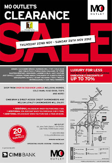 MO Outlet Clearance Sale 2012