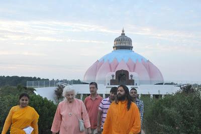 Swami Haridas, Nepali disciple of Kripaluji Maharaj, at LOTUS temple virginia