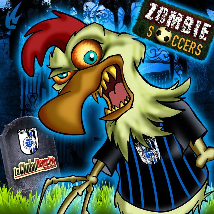... orona gallos blancos Liga MX queretaro soccer cartoon zombie Soccers