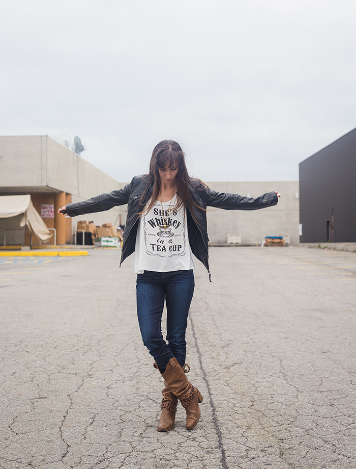 Whiskey-tee-skinny-jeans-leather-jacket-rocker