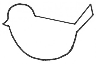 Móbile de passarinhos de feltro