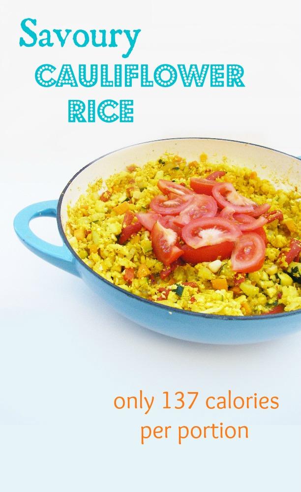 5:2 Diet - Savoury Cauliflower Rice = 137 calories