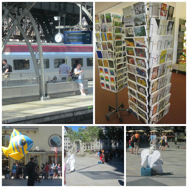 Ludwig museum post cards Thalys train Paris street artists Cologne Cathedral Koln Dom