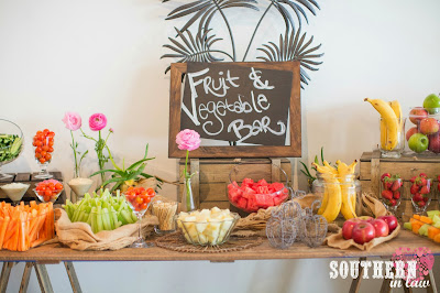 Fruit and Vegetable Bar - Gluten Free Wedding Reception Menu Sydney