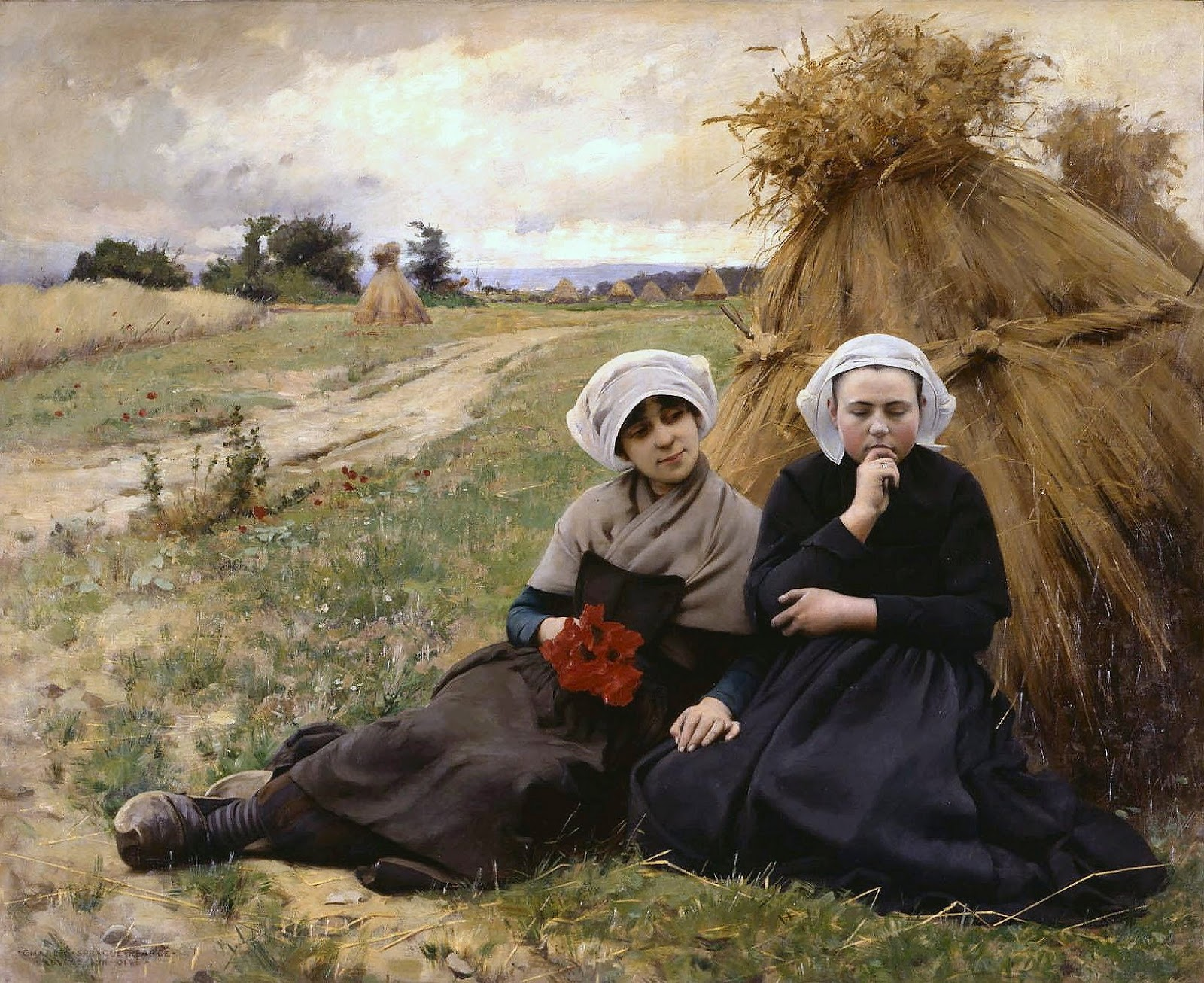 Charles  Sprague  Pearce  in  the  poppy  field