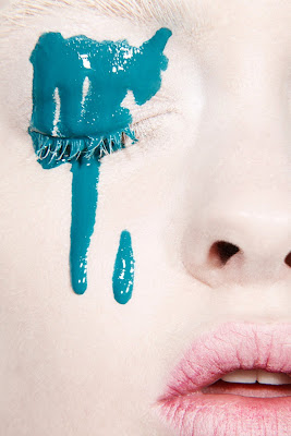 beauty photography, mascara running, smeared makeup