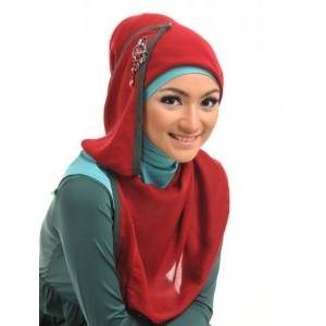 jual grosir jilbab segi empat motif murah  terbaru di surabaya