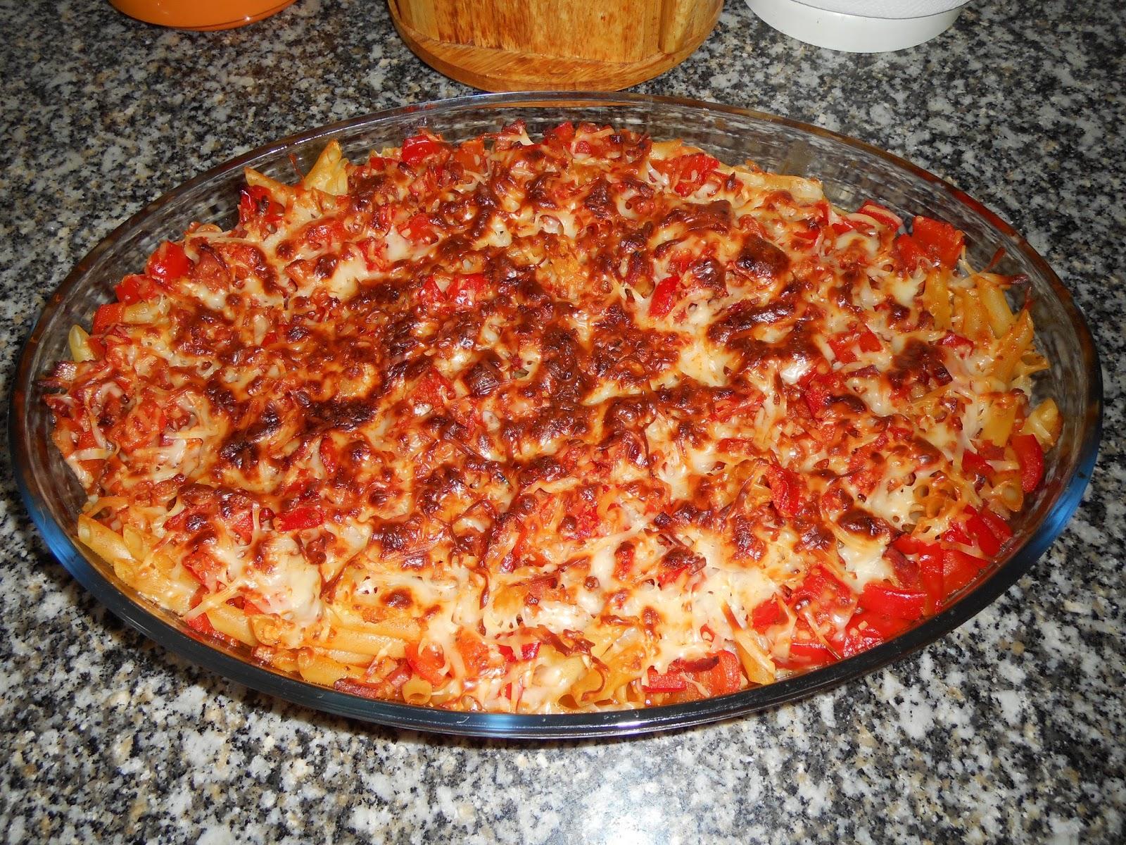 Experiencias con la familia macarrones con bacon gratinados al horno - Macarrones con verduras al horno ...