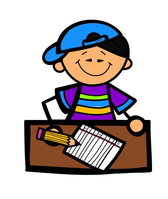 boy writing clip art - photo #3