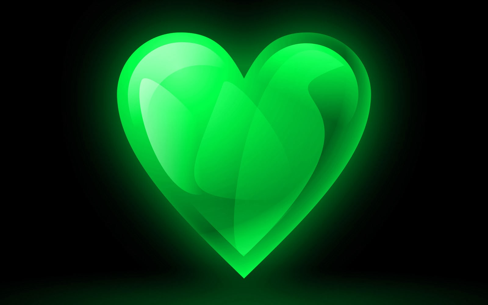Image Gallery lime green heart