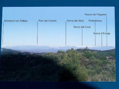 Situació de les principals serres del Prepirineu