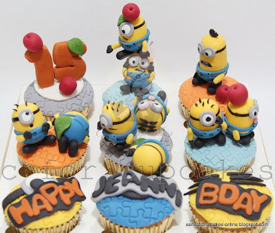 The Minions cake /cupcakes Singapore ( despicable me)